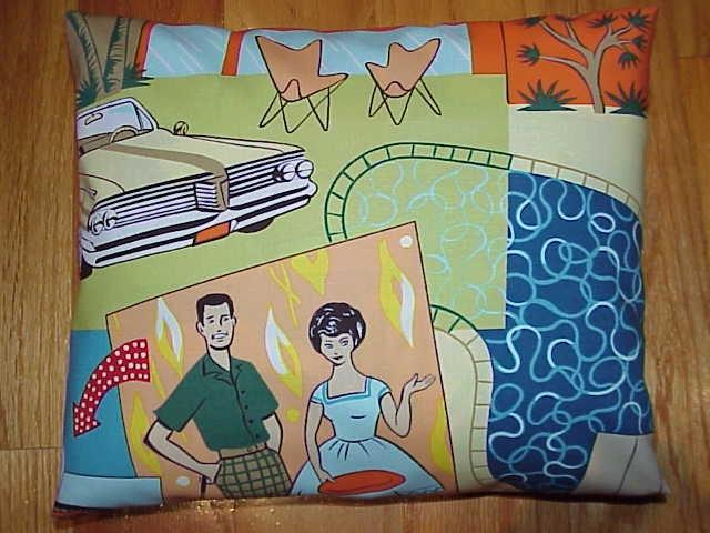 50s 60s ATOMIC mid century modern family- PILLOW