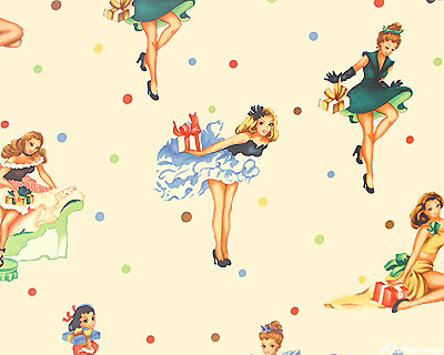 50s pin-up party girls DRAPES